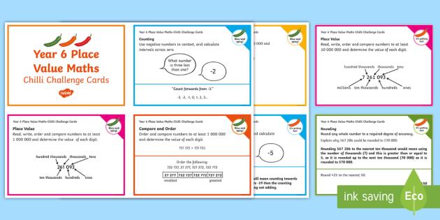 year 6 maths place value chilli challenge cards activities. Black Bedroom Furniture Sets. Home Design Ideas