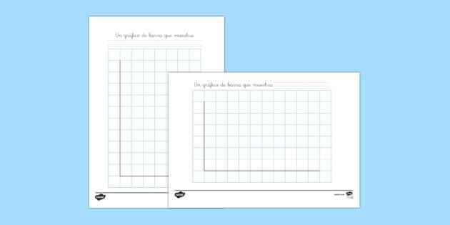 Plantilla de gráficos de barra - datos, analisis, gráficos,Spanish