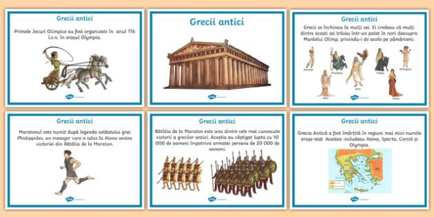 Grecii antici - Planșe informative