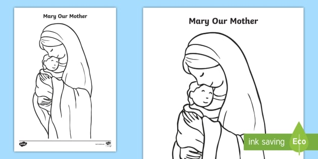 Mary Our Mother Colouring Page