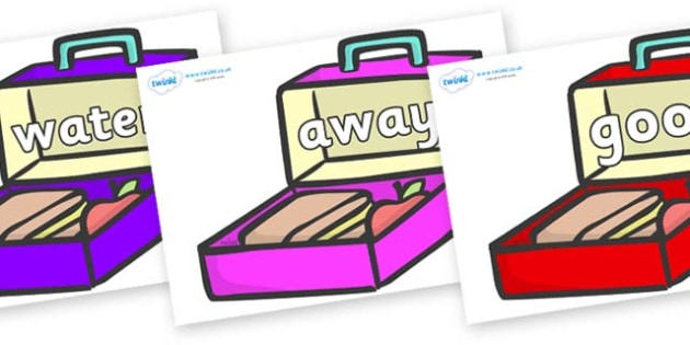 Next 200 Common Words on Lunchboxes (Multicolour) - Next 200 Common Words on  - DfES Letters and Sounds, Letters and Sounds, Letters and sounds words, Common words, 200 common words
