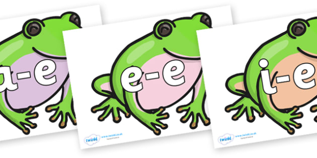 Modifying E Letters on Green Tree Frog - Modifying E, letters, modify, Phase 5, Phase five, alternative spellings for phonemes, DfES letters and Sounds