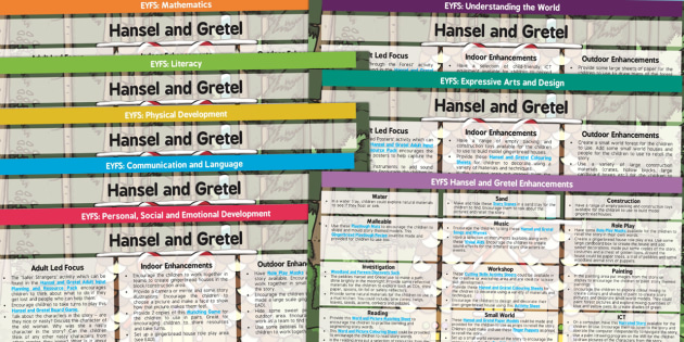 EYFS Hansel and Gretel Lesson and Enhancement Plan Ideas - planning, lesson ideas, plans
