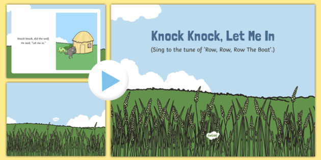 Knock Knock Let Me In Song PowerPoint