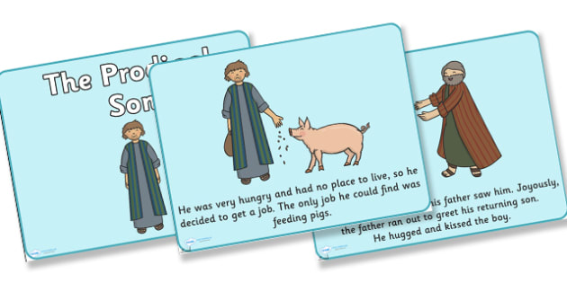 The Prodigal Son Story PowerPoint - the prodigal son, the prodigal son powerpoint, the prodigal son story, bible stories, bible stories, religion,bible stories, kindergarten, elementary, usa