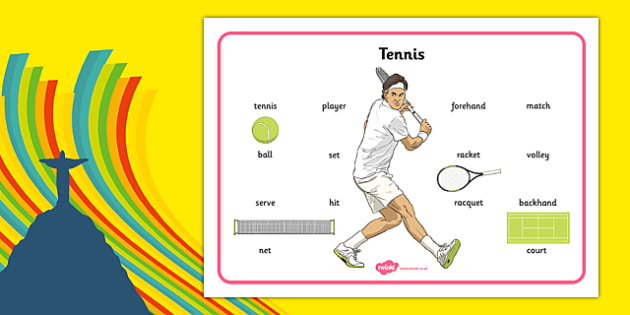 The Olympics Tennis Word Mat - the olympics, rio olympics, 2016 olympics, rio 2016, tennis, word mat