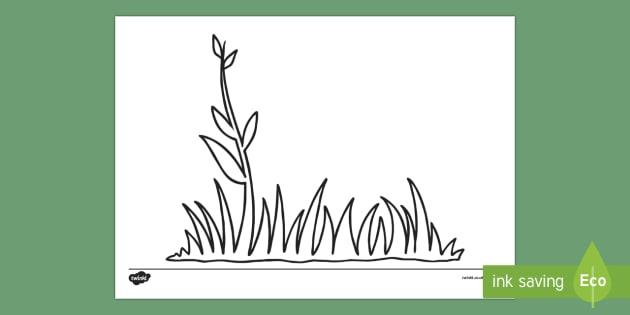 Doodle Draft Grass Activity Sheet - ROI, Ireland, doodle, draft, sketch, starter, creative, drawing, art, activity sheet, rish