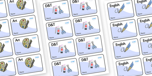 Snowflake Themed Editable Book Labels - Themed Book label, label, subject labels, exercise book, workbook labels, textbook labels