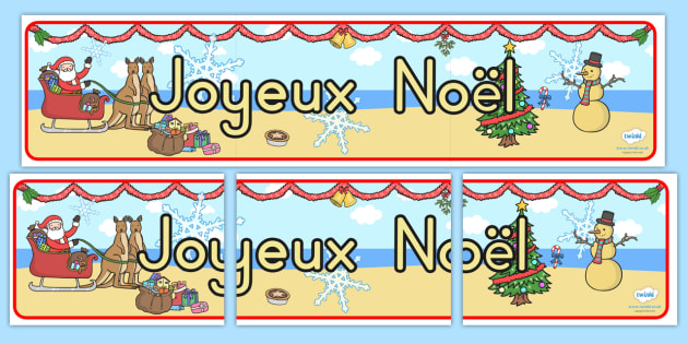 Australia Christmas Display Banner French - christmas, banner, french, xmas
