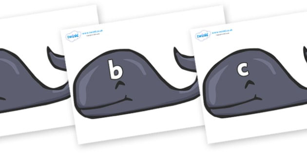 Phase 2 Phonemes on Whales - Phonemes, phoneme, Phase 2, Phase two, Foundation, Literacy, Letters and Sounds, DfES, display
