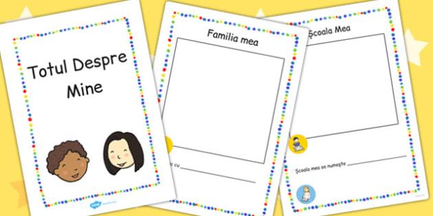 Totul despre Mine, brosura elevului nou, Romanian