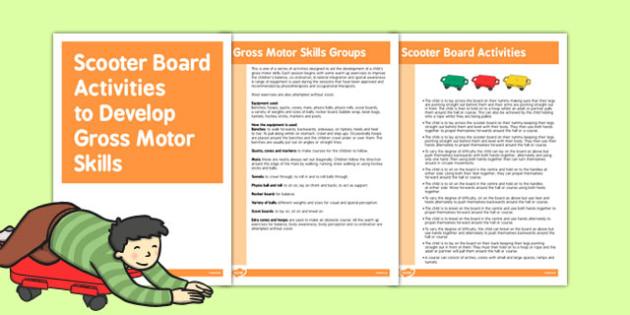 Scooter Board Gross Motor Skills Activities - gross motor skills