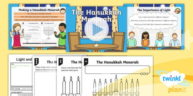 RE: Light and Dark: The Hanukkah Menorah Year 2 Lesson Pack 6