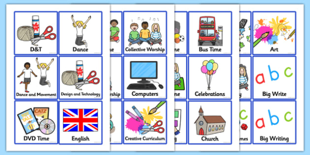 Visual Timetable Early/First - Visual Timetable, SEN, Daily Timetable, School Day, Daily Activities, Daily Routine KS1, Foundation Stage