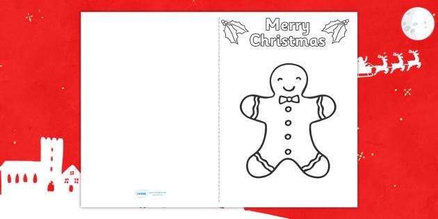 Christmas Gingerbread Man Card Templates - christmas, cards