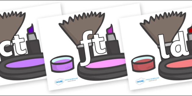 Final Letter Blends on Make Up - Final Letters, final letter, letter blend, letter blends, consonant, consonants, digraph, trigraph, literacy, alphabet, letters, foundation stage literacy