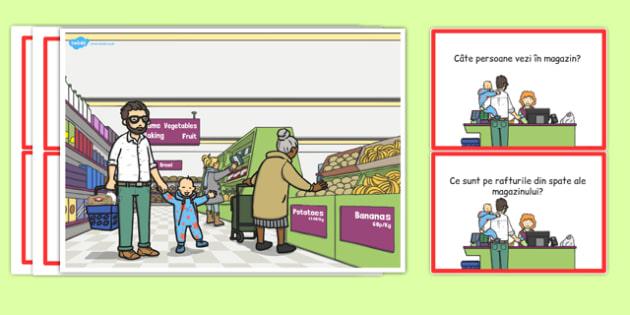 La supermarket - Planșă comunicare - la supermarket, planșă, comunicare, întrebări, răspunsuri, materiale didactice, română, romana, material, material