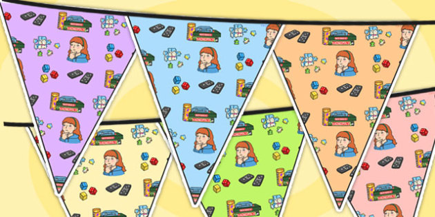 Puzzle Area Themed Bunting - puzzles, classroom areas, display