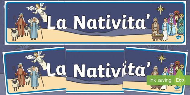 Nativita Striscione Nativita Display Striscione Natale Buon Natale