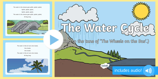 water cycle song powerpoint water cycle song earth. Black Bedroom Furniture Sets. Home Design Ideas