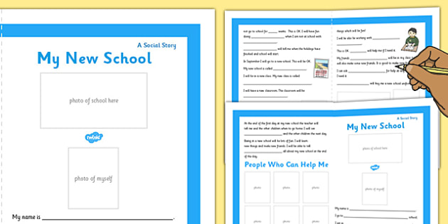 My New School Social Situation Primary Personalised - new school, social stories