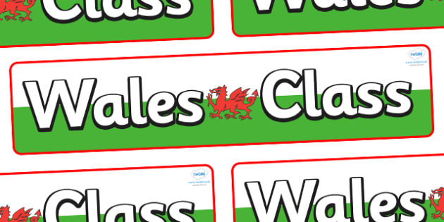 Wales Themed Classroom Display Banner - Themed banner, banner, display banner, Classroom labels, Area labels, Poster, Display, Areas