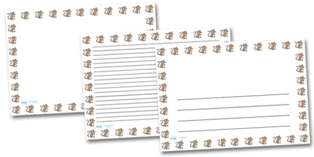 Mouse Portrait Page Borders- Portrait Page Borders - Page border, border, writing template, writing aid, writing frame, a4 border, template, templates, landscape