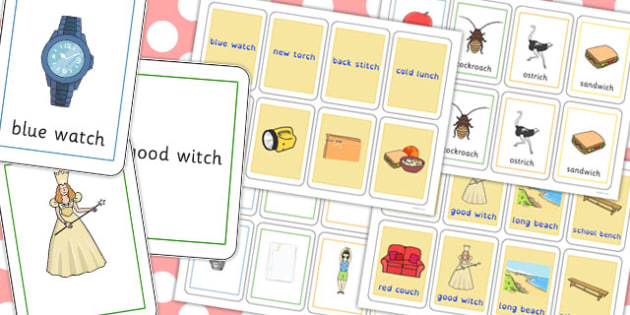 Two Syllable Final 'Ch' Sound Playing Cards - ch sound, cards