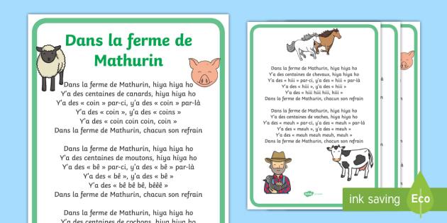 Coloriage La Ferme De Mathurin.Poster Dans La Ferme De Mathurin Animaux Campagne