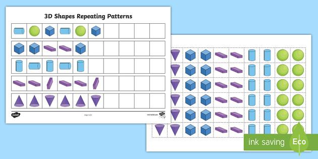 3d shape patterns 3d shape pattens 3d shapes patterns