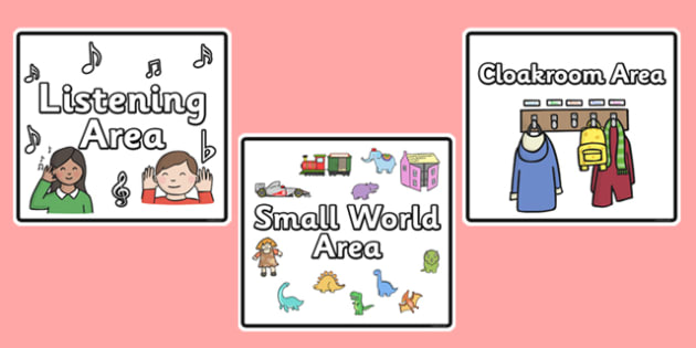 Editable Square Classroom Area Signs (Black) - Classroom Area Signs, KS1, Banner, Foundation Stage Area Signs, Classroom labels, Area labels, Area Signs, Classroom Areas, Poster, Display, Areas