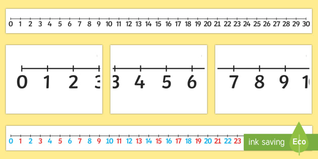 picture about Printable Number Line 1-30 referred to as Large 0 30 Range Line - Huge 0-30 Quantity Line- Quantities, 0