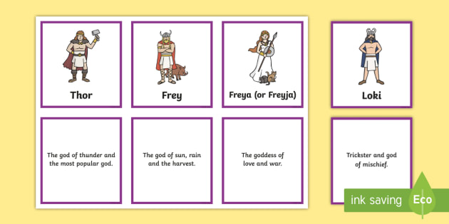 Viking gods homework help