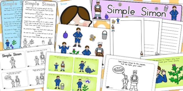 Simple Simon Resource Pack - australia, simon, resources, pack