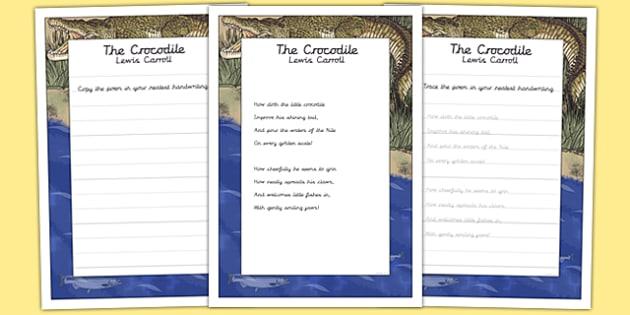 the crocodile ks2 handwriting practice ks2 handwriting. Black Bedroom Furniture Sets. Home Design Ideas