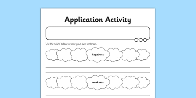 Application Worksheet / Activity Sheet Forming Nouns using ness - GPS, spelling, grammar, nouns, verbs, suffixes, ness, worksheet