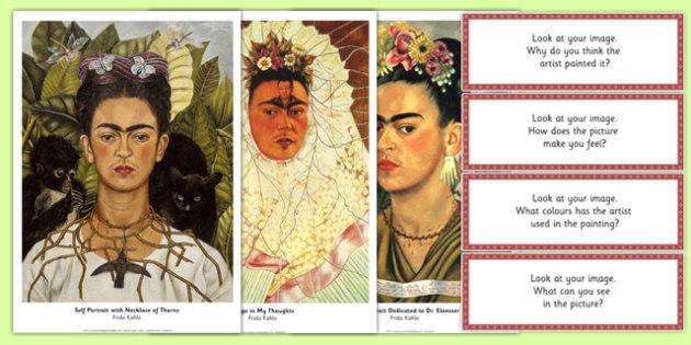 Frida Kahlo Artist Photopack and Prompt Questions - frida kahlo, photo pack, prompt, questions