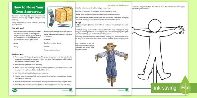 How To Make Your Own Scarecrow Step By Step Instructions