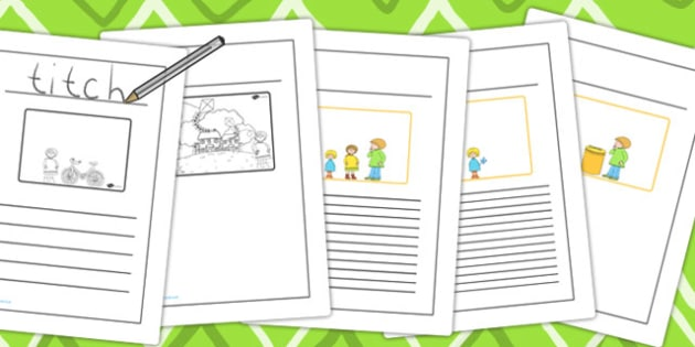 Story Writing Frames to Support Teaching on Titch - writing aid, writing template, story