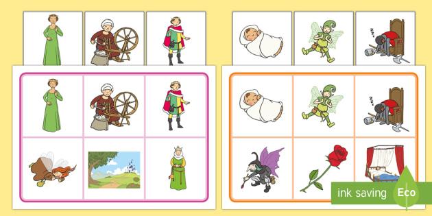 Sleeping Beauty Matching Mat SEN - sleeping beauty, matching mat, sleeping beauty mat, SEN, SEN matching mat, SEN mat, sleeping beauty SEN, themed mat
