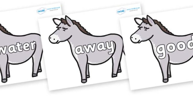 Next 200 Common Words on Donkeys - Next 200 Common Words on  - DfES Letters and Sounds, Letters and Sounds, Letters and sounds words, Common words, 200 common words