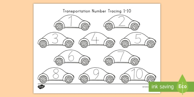 Unique Number Tracing Worksheets 1 10 Model - Mathematics for ...