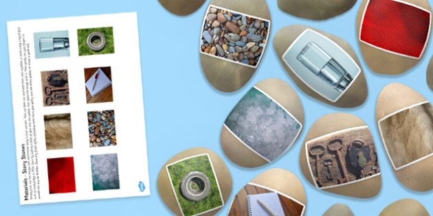 Materials Story Stone Photo Image Cut Outs - Story stones, stone art, painted rocks,  story telling, science, investigation