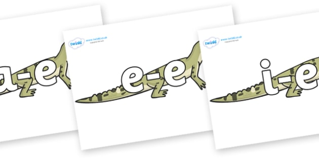 Modifying E Letters on Aligator - Modifying E, letters, modify, Phase 5, Phase five, alternative spellings for phonemes, DfES letters and Sounds