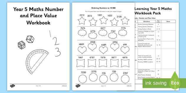 year 5 maths number and place value workbook maths workbook. Black Bedroom Furniture Sets. Home Design Ideas