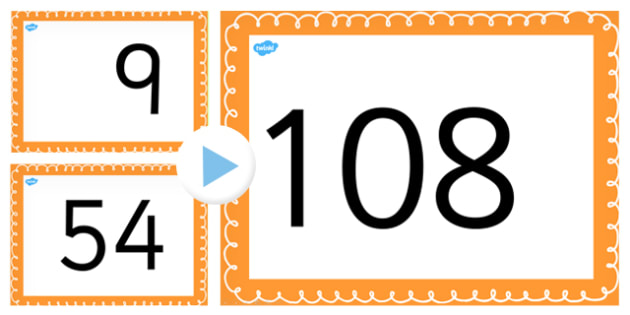 Counting On and Back in 9s up to 108 PowerPoint - counting, 9