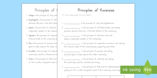 us2 t 123 principles of kwanzaa missing words activity sheet ver 1