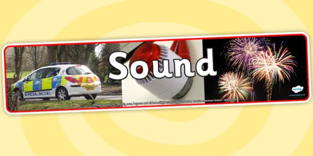 Sound Photo Display Banner - sound, photo display banner, display banner, display, banner, photo banner, header, display header, photo header, photo