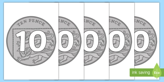 Counting in 10s on 10ps - Counting, coin, money, numberline, Number line, Counting on, Counting back, counting in 10s, coins, currency, pound, pence, foundation numeracy, pay, shop