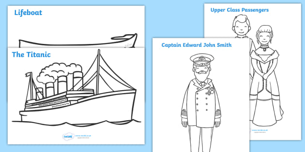 FREE! - The Titanic Colouring Posters - The Titanic ...